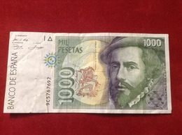 Banknote Spanien 1000 Peseten Mil Pesetas Espana 1992 - [ 4] 1975-…: Juan Carlos I.