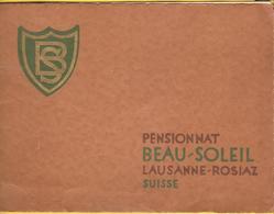 Old Brochure - Pensionnat Beau-Soleil Lausanne-Rosiaz, Suisse - Livres, BD, Revues