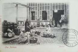 O) 1905 SPAIN, MARKET-CULTURE-CANARIAS-LAS PALMAS, POSTAL CARD XF - La Palma