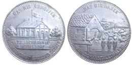 02867 GETTONE TOKEN JETON FICHA T.V. GERMANIA HERMSDORF Ca. 1900 ALU - Germany