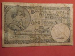 Belgique, 5 Francs, 1938 Etat B - [ 6] Trésorerie