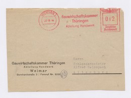 Briefausschnitt AFS WEIMAR, Gauwirtschaftskammer Thüringen, Abteilung Handwerk 1944 - Deutschland