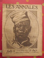 """Revue Les Annales 12 Mai 1918 Guerre """"Y A Bon"""" Tiraillieur Indigène. Togona Bebarka. Modèle De Banania - 1900 - 1949"""