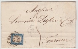 ITALIA USED COVER 9/10/1859 SASSONE 3 GENOVA TO TOURNON FRANCIA - 1861-78 Victor Emmanuel II