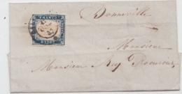 ITALIA USED COVER  SASSONE 3 ? TO BONNEVILLE BELGICA - 1861-78 Victor Emmanuel II