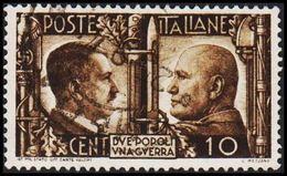 1941. HITLER & MUSSOLINI. CENT 10. (Michel 623) - JF308463 - Gebraucht