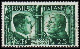 1941. HITLER & MUSSOLINI. CENT 25. (Michel 625) - JF308465 - Gebraucht