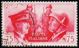 1941. HITLER & MUSSOLINI. CENT 75. (Michel 627) - JF308467 - Gebraucht