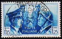 1941. HITLER & MUSSOLINI. LIRE 1,25 NAPOLI 26. 11. 41. (Michel 628) - JF308468 - 1900-44 Victor Emmanuel III
