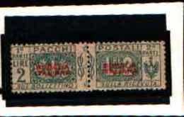 73911)SOMALIA-ITALIANA--2 LIRE Pacchi Postali Soprastampati SOMALIA ITALIANA Del PRIMO Tipo In Rosso NON EMES -1926-MLH* - Somalie
