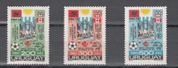 Uruguay 1974,3V In Set,,football,fussball,voetbal,fútbol,calcio ,MNH/Postfris(A3579) - Coupe Du Monde