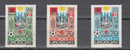 Uruguay 1974,3V In Set,,football,fussball,voetbal,fútbol,calcio ,MNH/Postfris(A3579) - Wereldkampioenschap