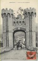 MONTPEZAT  Entrée Du Pont Suspendu (paysan Sur Son âne Posant Sous Les Consignes De Traversée !) - Altri Comuni