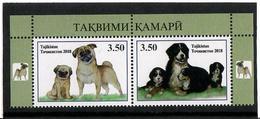 Tajikistan.2018 The Year Of Dog. Pair Of 2v: 3.50, 3.50  Michel # 782-83A - Tadjikistan