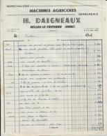 BELLOU LE TRICHARD H DAIGNEAUX MARECHALERIE QUINCAILLERIE SERRURERIE MACHINES AGRICOLES ANNEE 1960 - France