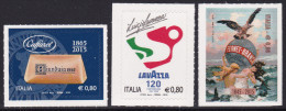 ITALY ,2015, MNH, PRODUCTS, COFFEE, CHOCOLATE, 3v S/A - Drinks