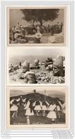 6213 AK /PC/ 3 X CP CARTE PHOTO/1112/GRECE/DANSE/DELPHES - Grecia