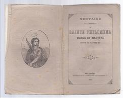 1862 NEUVAINE EN L' HONNEUR DE SAINTE PHILOMENE VIERGE ET MARTYRE + SOUVENIR DU JUBILE A TUBIZE 1862 - Livres, BD, Revues