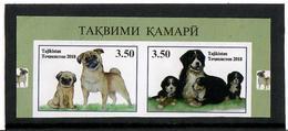 Tajikistan.2018 The Year Of Dog.Imperf. Pair Of 2v: 3.50, 3.50  Michel # 782-83B  KB - Tadjikistan