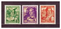 CH59) SVIZZERA 1933 -Pro Juventute - Unif 267-69 MNH - Svizzera