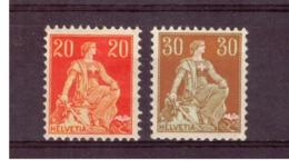 CH61) SVIZZERA 1908 -Helvetia Seduta - Unif 119-121 MLH* - Svizzera