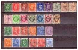 GB114)GRAN BRETAGNA 1937-1951 Giorgio VI - 3 Serie Cpl 27val USED - 1902-1951 (Kings)