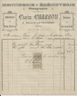 BELLOU LE TRICHARD PAR SAINT GERMAIN DE LA COUDRE CHARLES CHARRON MENUISERIE EBENISTERIE PHOTOGRAPHIE ANNEE 1913 - France