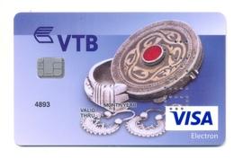 Kazakhstan VOID VTB Bijoux Anciens En Or - Cartes De Crédit (expiration Min. 10 Ans)