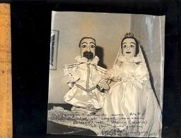 Photographie Originale  :  Marionnettes Lyonnaises Marionnette Couple Mariés Mariage Royal Photo P JANNAUD - Objets