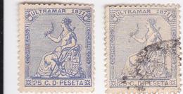 ANTILLES ESPAGNOLES /HISPANIA / NEUF SANS GOMME + OBLITéRé / 2 TIMBRES  N° 39 YVERT ET TELLIER / 1871 - Antilles