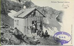 LES DIABLERETS  Cabane RAMBERT  (Belle Animation, Cachet De La Cabane) - VD Vaud