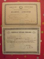 Certificat D'études Primaires De 1879. Mention Très Bien. Cote-d'Or. Dijon. Nolay. 2 Exemplaires Différents. - Diplômes & Bulletins Scolaires