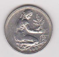 1950 Germania (D) - 50 Pfenning Circolati (fronte E Retro) - [ 6] 1949-1990 : GDR - German Dem. Rep.
