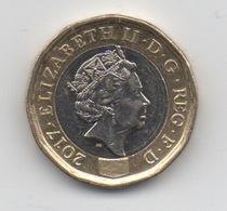 GB 1 Pound 2017 QEII Bimétal - 1971-… : Monnaies Décimales