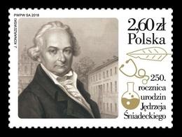 Poland 2018 Mih. 5058 Medicine. Physician, Chemist And Biologist Andrew Sniadecki MNH ** - Ungebraucht