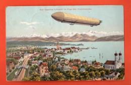 TRF-06  Friedrichshafen   Mit Graf Zeppelins Luftschiff. Gelaufen In 1908, Briefmarke Fehlt. - Friedrichshafen
