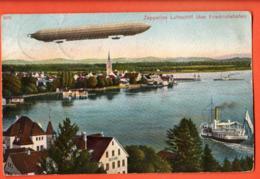 TRF-07  Friedrichshafen  Hafen Mit Graf Zeppelins Luftschiff. Gelaufen  Briefmarke Fehlt. - Friedrichshafen