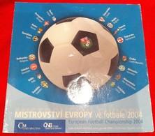 Neuf Rare Coffret Série 8 Pièces Officiel Couronne République Tchèque Année 2004 Édition Spéciale Football ! 15 000ex ! - Czech Republic