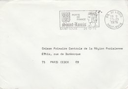 """LSC 1976 - Cachet Et Flamme SAINT LOUIS  (Haut Rhin) """"Porte De France Saint Louis"""" - Storia Postale"""