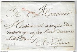 LAC De 1780 - Ecrite Au Chateau De Mareilles - ChaumontB En Rouge (Haute Marne) - R - Marcophilie (Lettres)