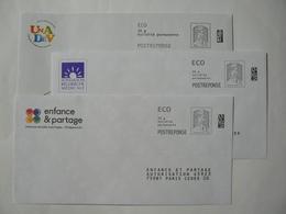 Prêt à Poster Réponse , POSTREPONSE  20g, ECO, Ciappa-Kavena, 3 Enveloppes Neuves, TB. - Entiers Postaux