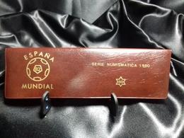 CARTERA ALARGADA MUNDIAL FUTBOL ESPAÑA 82 MARRON - Ongebruikte Sets & Proefsets