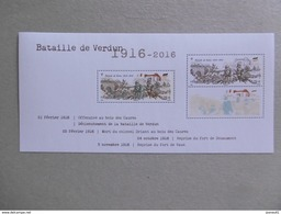 2016 BF 141 * * NO YVT 5063 ET 5063A CENTENAIRE DE LA BATAILLE DE VERDUN - Sheetlets