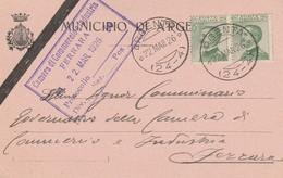 Argenta. 1926. Annullo Frazionario (24 - 4), Su Cartolina Del Comune. Araldica. - Marcofilie