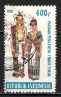 INDONESIA - 1987 - FOLCLORE: COSTUME TRADIZIONALE DI TIMOR TIMUR - USATO - Indonesia