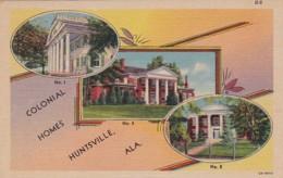 Alabama Huntsville Beautyful Colonial Homes Curteich - Huntsville