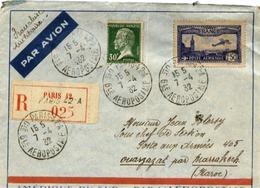 AVIATION Enveloppe Recommandée - AMÉRIQUE Du SUD Par L'AÉROPOSTALE 1932 - Poste Aérienne N° 5 - Vue De  Marseille - Aviation