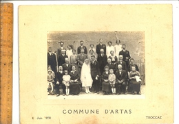 Photographie Originale  :  Mariage Sur La Commune D'ARTAS Isère En 1930 Photographe Troccaz - Places