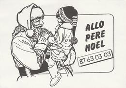 Carte Publicitaire Allo Père Noel - Le Téléphone Du Père Noel... - Santa Claus
