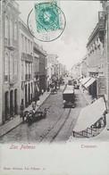 O) 1905 SPAIN -LAS PALMAS, BAZAR ALEMAN LAS PALMAS II - STREET TRIANA  -TRIANASTR, TRAAIN-CARRIAJE. CULTURE, KING ALFONS - La Palma